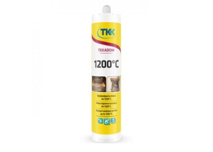 Герметик жаростойкий TEKADOM +1200 С (черный)  ТКК 300 ml