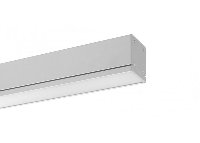 Светодиодный линейный декоративный светильник DECO (36W, 3780Lm, 4100К/6500К, матовый рассеиватель, серебристый корпус) 1200мм