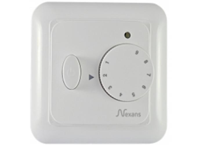 Терморегулятор Nexans N-Comfort TR містить датчик температури повітря (вбудований) і поставляється з зовнішнім датчиком (монтуется в підлогу)