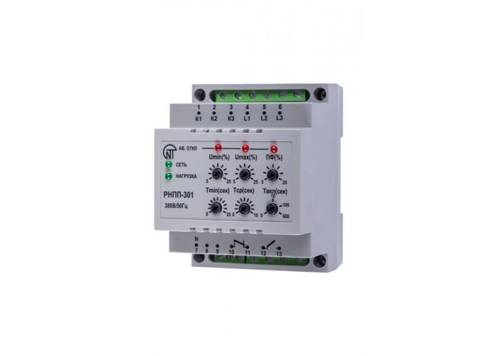 Реле напряжения, перекоса и последовательности фаз РНПП-301